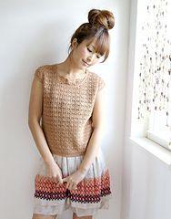 Ravelry: 211s-39 Crochet Cap-sleeve Tee pattern by Pierrot (Gosyo Co., Ltd)
