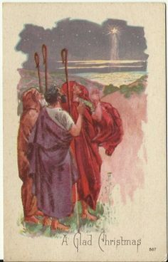 Postcards In The Attic: The Three Wisemen following the Christmas Star Vin...