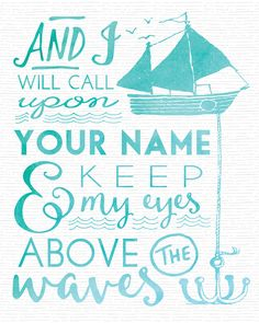 Home Remodel Oceans by Hillsong free printable quote art. Just print and frame for instant Nautical / Coastal home decor! Oceans Lyrics, Hillsong Lyrics, Wall Quotes, Bible Quotes, Bible Verses, Bible Art, Quotes Quotes, Free Printable Quotes, Free Printables