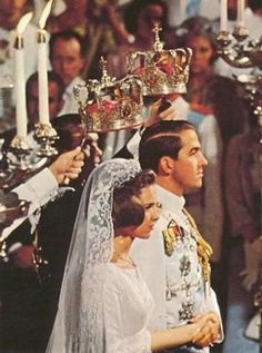Greek royal wedding 1964 of King Constantine II of Greece and Princess Anne-Marie of Denmark