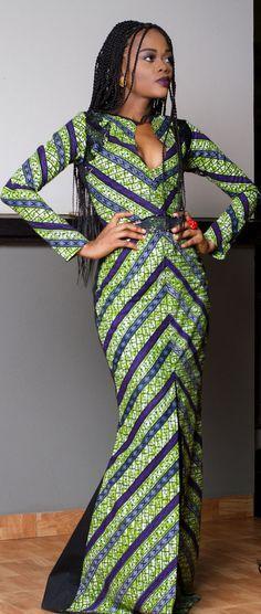 Robe imprimée africain. Robe d'Ankara par TrueFond sur Etsy
