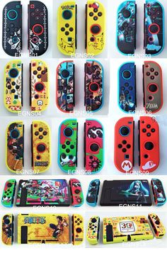 Custom Frosted Trio Color Game Themed nintendo switch Joy-Con Color Case Cover Skin Shell for Nintendo Switch NS console