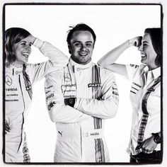 Susie,Felipe and Claire /Williams Martini Racing Formula 1 Girls, Formula 1 Car, Ricciardo F1, Daniel Ricciardo, F1 Racing, Racing Team, Susie Wolff, Williams F1, Martini Racing