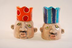 Candleheads by Denise Greenwood- I have these around my house!!! I put different things in them-in the kitchen I put sweetener packets, in the office area I have paper clips, etc.