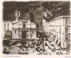 Napoli, Chiesa di Piedigrotta - Inizio del '900. #ilovenapoli San Gennaro, Cathedral City, Active Volcano, Southern Italy, Historical Images, Pompeii, Naples, Art And Architecture, Castle