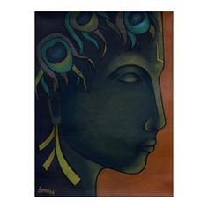 NOVICA Signed Expressionist Painting of Krishna from India (1.265 NOK) ❤ liked on Polyvore featuring home, home decor, wall art, expressionist paintings, green, paintings, green home decor, novica, india wall art and green painting