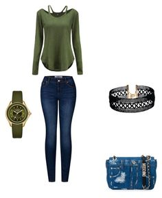 """""""Untitled #355"""" by styleluxjstyle ❤ liked on Polyvore featuring Moschino, 2LUV, Vanessa Mooney and Michele"""