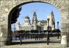 The Royal Liver Building on the banks of The Mersey River, Liverpool, UK