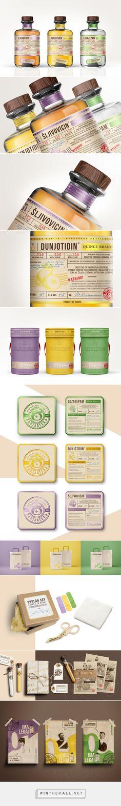 Rakijateka Distilling Company packaging design by Jovana Randjelovic (Serbia) - http://www.packagingoftheworld.com/2016/09/rakijateka-distilling-company-student.html