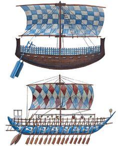 """Syrian ship & Minoan galley"", Giuseppe Rava"