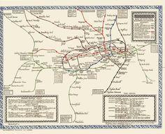 Tube Map Awesome Maps Pinterest London Underground - London map 1945