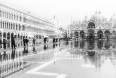 A morning shot of Piazza San Marco in the mists and when the tide was high, flooding the piazza Mists, Louvre, Hollywood Model, San, Actresses, Actors, Celebrities, Building, Atlanta
