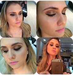 Maquiagem completa feita pelo @ffermakeup, do Beauty Team da NYX do Shopping Vitória, na cliente @brunadalapicula