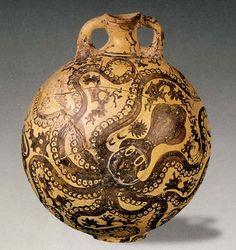 """Минойская керамика, расписанная в т.н. """"морском стиле"""" - Обрывок пергамента"""