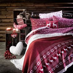 Christmas bedroom styling #interior #home #decor #homedecor #primark #stag #print #heartcushion #sweet