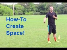 This video shows you how-to create your own space from the defender who is guarding you. You need to create your own space in soccer so you can have more time on the ball in the games.