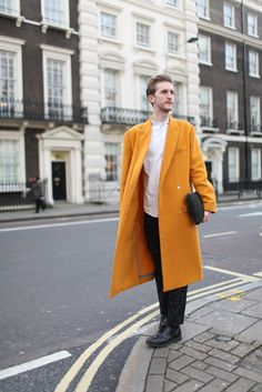 Taan says: That's one yellow coat!