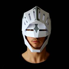KNIGHT Armor Mask Make your own Knight's helmet from Knight In Shining Armor, Knight Armor, Origami Paper Art, Paper Crafts, Low Poly Mask, Cardboard Mask, Knights Helmet, Mask Painting, Paper Mask