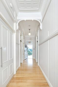 A DesignBuild Masterpiece on Queensland Homes Magazine Cottage Hallway, Entry Hallway, Upstairs Hallway, Hallway Runner, Entryway, Brisbane, Queenslander House, Edwardian House, Character Home