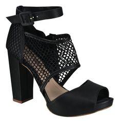 Sandália Tanara Meia Pata N6183 - Preto (Mayo) - Calçados Online Sandálias, Sapatos e Botas Femininas | Katy.com.br