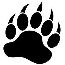 bearcat paw clip art bear paw tracks free cliparts that you can rh pinterest com bear paw clip art free black bear paw clip art