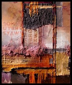 """Daily Painters Abstract Gallery: Abstract Mixed Media Art Painting """"Headlines"""" by Colorado Mixed Media Abstract Artist Carol Nelson"""