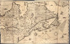 Samuel de Champlain founded New France (Canada) and Quebec City in 1608 during one of his. Samuel De Champlain, Old Maps, Antique Maps, Ontario Parks, France 2, Virtual Museum, Marvel, Lake Superior, Newfoundland