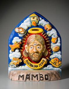 "From the mid Mambo designer Reg Mombassa shocked, horrified and delighted with his, now, iconic series titled ""Australian Jesus."