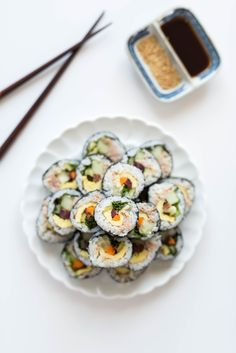 Homemade + Healthy Road Trip Snacks: Tuna Kimbap