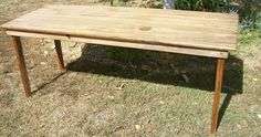 Handmade OOAK Farmhouse Style Kitchen Dining Table made from 100 year old recycled wood. $298.00, via Etsy.