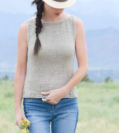 Easy Knit Tank Top Pattern | This will be your go-to top for summer!