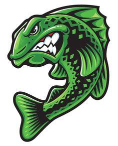Screen shot 2014 05 18 at pm Mascot Design, Logo Design, Logo Esport, Bass Logo, Fish Artwork, Art Tumblr, Desenho Tattoo, Animal Logo, Stickers