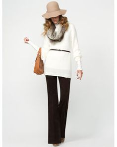 Cute winter white outfit :)