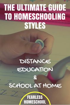 The Ultimate Guide to Homeschooling Styles and Methods - Distance Education and School at Home. From Fearless Homeschool. Homeschool High School, Homeschool Curriculum, Homeschooling Resources, How To Start Homeschooling, Distance, Learning Courses, Kids Learning, Educational Thoughts, Encouragement