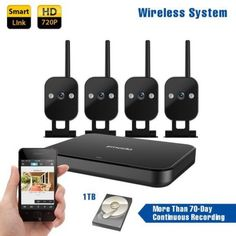 Zmodo-Replay-4-Channel-720p-HD-Wireless-Mini-NVR-Kit-Outdoor-4-IP-Cameras-1TB