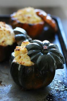 White Cheddar Mac N Cheese Stuffed Squash Food Acorn Squash