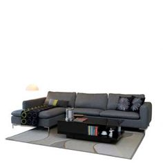 Buy Forzza Talca L Shape Sofa Grey Online in India - FO400FU53PCOINDFUR - FabFurnish.com