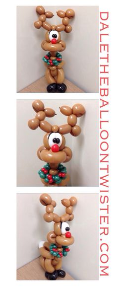 Rudolph with a Holly Wreath Collar - inspired by Jeff Hayes.