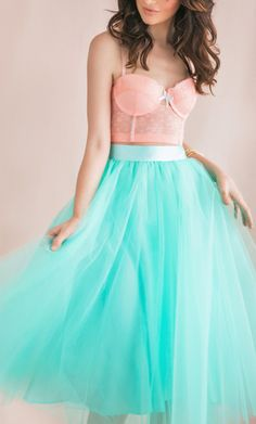 Ok this is my last pin, I promise! I love the shape and tulle in this dress. But I don't like that the top looks like lingerie.