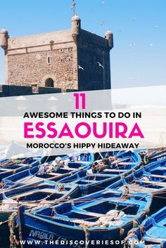Essaouira- 11 amazing things to do in Morocco's hippy hideaway. Go souk shopping, wander around the medina, go to a hammam and dine on the wonderful food. Travel in Africa.