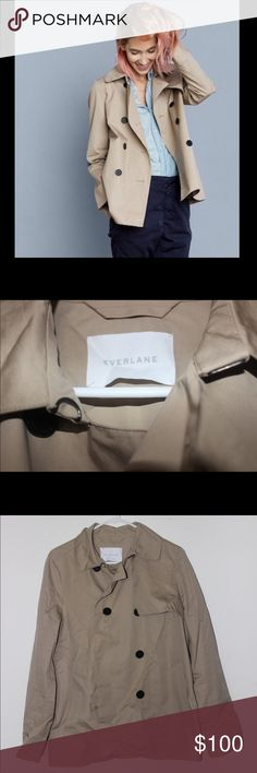 Everlane Swing Trench Classic Tan Swing Trench in A-line silhouette. Made of light, but structured, water resistant cotton. Everlane Jackets & Coats Trench Coats