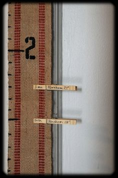 growth chart. Fun to do clothes pin for current height