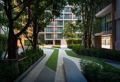 公寓花园嵌草园路