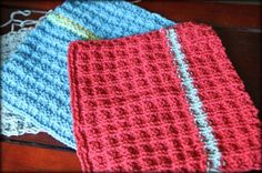 Green Spring Cleaning Craft: Knitted Dishcloths (4 free washcloth patterns)