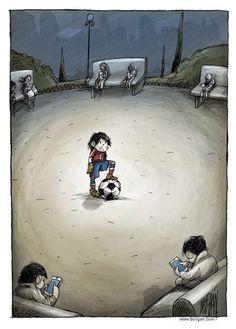 Una foto emblematica della solitudine da....social network !!!!