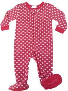 "Leveret Baby Girl Footed ""Polka Dot"" Fleece Pajama Sleeper (Size 6M-5T) (18-24 Months, Pink) Leveret http://www.amazon.com/dp/B00NNZS4WK/ref=cm_sw_r_pi_dp_.-Sxub1V54PMS"