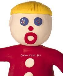 Mr. Bill from SNL circa 70's... Oh, noooo!!!  Only the cool kids at my high school had Mr. Bill Shirts.... I of course did not get one... but I did get to play on the SNL set when I lived in NYC~