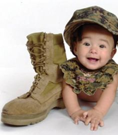 Awww man.. I can't wait 4 my Sis to have a Baby.. Love this Military stuff. A pic of a little 1 wearing a NAVY hat would be priceless..;-)