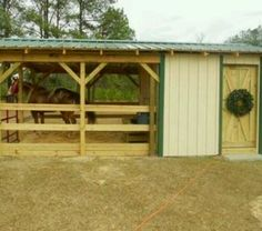 Single stall barn. Maybe replace feed room with an actual horse stall?
