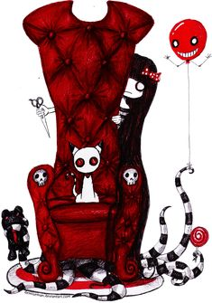 The Red Chair by DemiseMAN.deviantart.com